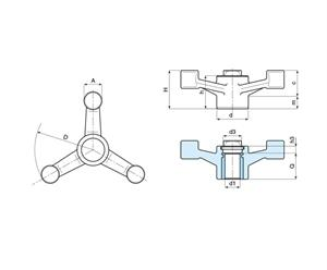 Picture of 3-ARM CONTROL HANDWHEEL