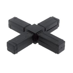 SQUARE TUBE CONNECTOR - 4 WAY FLAT