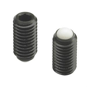 THREADED GRUB SCREW WITH HEXAGON SOCKET HEAD AND PLASTIC BALL POINT