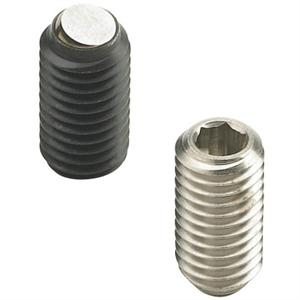 THREADED GRUB SCREW WITH HEXAGON SOCKET AND FLATTENED BALL POINT