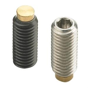 THREADED GRUB SCREW WITH HEXAGON SOCKET AND BRASS POINT