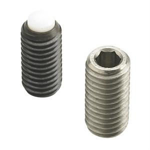 THREADED GRUB SCREW WITH HEXAGON SOCKET AND PLASTIC POINT