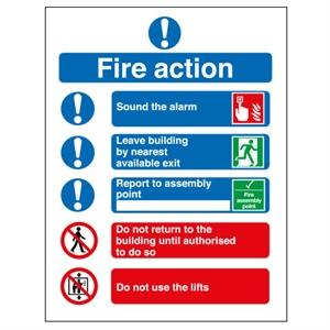 A5 Fire Action (Symbolised)