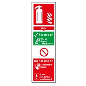 280x90 Water Extinguisher for use on