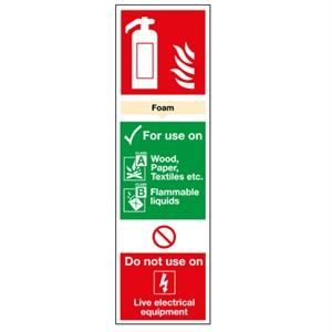 280x90 Foam Extinguisher for use on