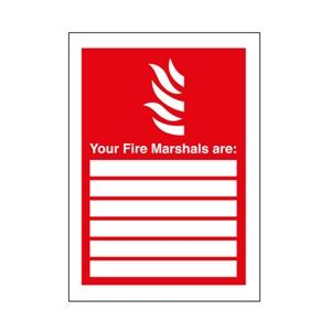 210x148mm Your Fire Marshalls Are