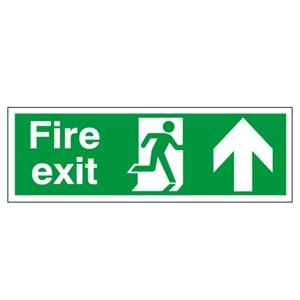 150x450mm Fire Exit (Symbol) Arrow Up