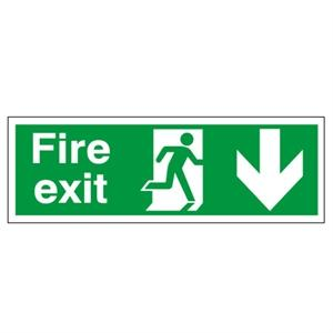 Picture of 150x450mm Fire Exit (Symbol) Arrow Down