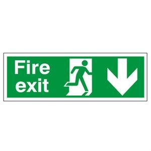 150x450mm Fire Exit (Symbol) Arrow Down
