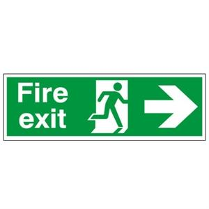 Picture of 150x450mm Fire Exit (Symbol) Arrow Right