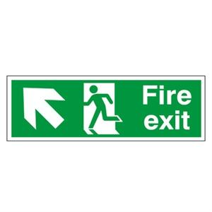150x450mm Fire Exit (Symbol) Arrow Up Left