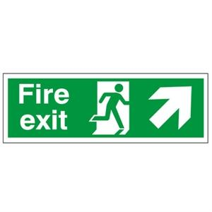 150x450mm Fire Exit (Symbol) Arrow Up Right