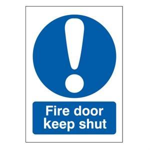 100x75mm Fire Door Keep Shut