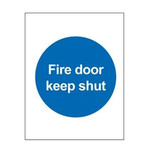 100x100mm Fire Door Keep Shut