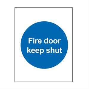 Picture of 100x100mm Fire Door Keep Shut