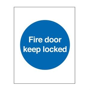 100x100mm Fire Door Keep Locked