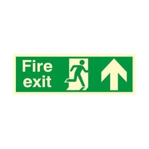 150x450mm Nite-Glo Fire Exit (Arrow Up)