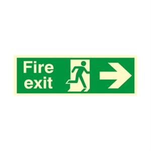 150x450mm Nite-Glo Fire Exit (Arrow Right)