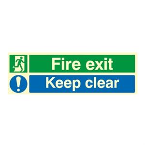 Picture of 150x450mm Nite-Glo Fire Exit Keep Clear