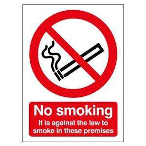 210x148mm No Smoking (Legal Requirement) Rigid