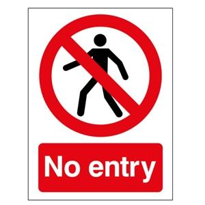 400x300mm No Entry