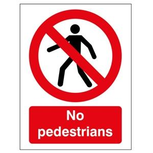 A5 No Pedestrians