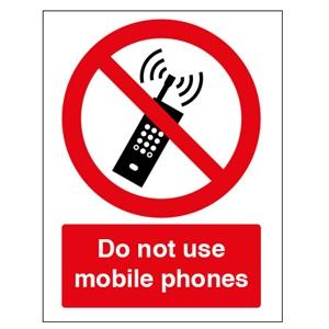 Picture of 210x148mm Do Not Use Mobile Phones