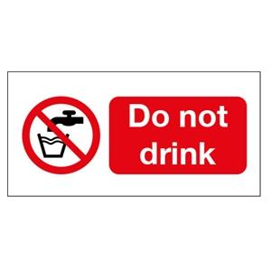 100x75mm Do Not Drink