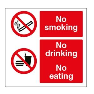 300x300mm No Smoking/Drinking/Eating