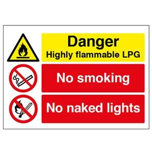 Picture of 400x600 Danger Highly Flammable LPG No Smoke
