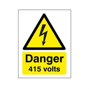 Picture of 210x148mm Danger 415 Volts