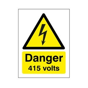 400x300mm Danger 415 Volts