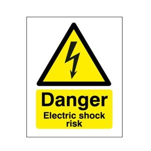 210x148mm Danger Electric Shock Risk