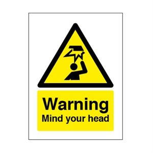 210x148mm Warning Mind Your Head
