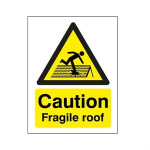 400x300mm Caution Fragile Roof