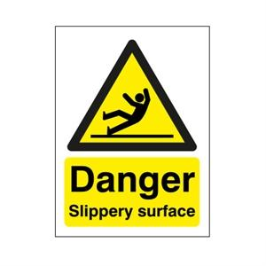 210x148mm Danger Slippery Surface
