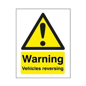 400x300mm Warning Vehicles Reversing
