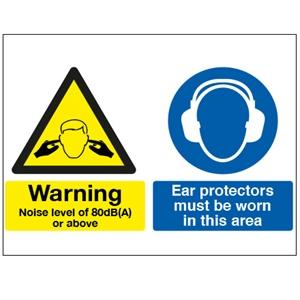 300x500mm Noise Level 80Db/Ear Protectors Must Be Worn