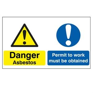 300x600 Danger Asbestos Permit To Work