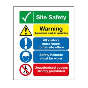 400x300mm Site Safety/Dangerous Operation/Site Office