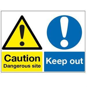 450x600mm Caution Dangerous Site/Keep Out