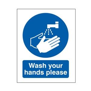 Picture of 210x148mm Wash Your Hands Please