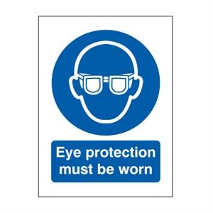 100x75mm Eye Protection Must Be Worn