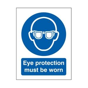210x148mm Eye Protection Must Be Worn