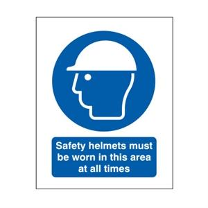 600x450mm Safety Helmets Must Be Worn In This Area