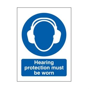 210x148mm Hearing Protection Must Be Worn