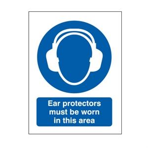 Picture of 400x300mm Ear Protectors Must Be Worn In This Area