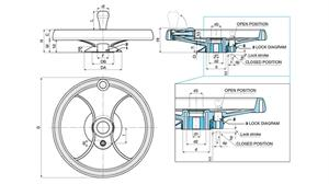 Picture of 2-SPOKE CONTROL HANDWHEEL WITH FOLDAWAY REVOLVING HANDLE & LOCK