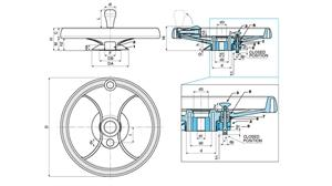 Picture of 2-SPOKE CONTROL HANDWHEEL WITH FOLDAWAY REVOLVING HANDLE & LOCKING PISTON