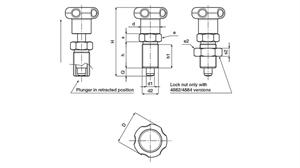 Picture of INDEXING PLUNGER WITH LOCK NUT